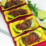 Crock Pot Beef Carnitas Tacos with Endive and Avocado Salad