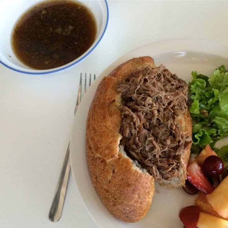 Shredded French Dip Sandwiches