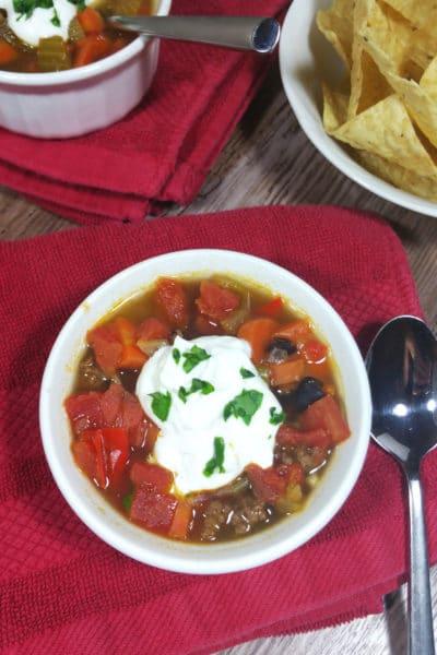 Autumn Vegetable and Black Bean Soup