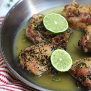 Gluten Free Lemon Thyme Chicken with Garlic and Rosemary