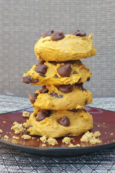 Soft Baked Chocolate Chip Pumpkin Cookies