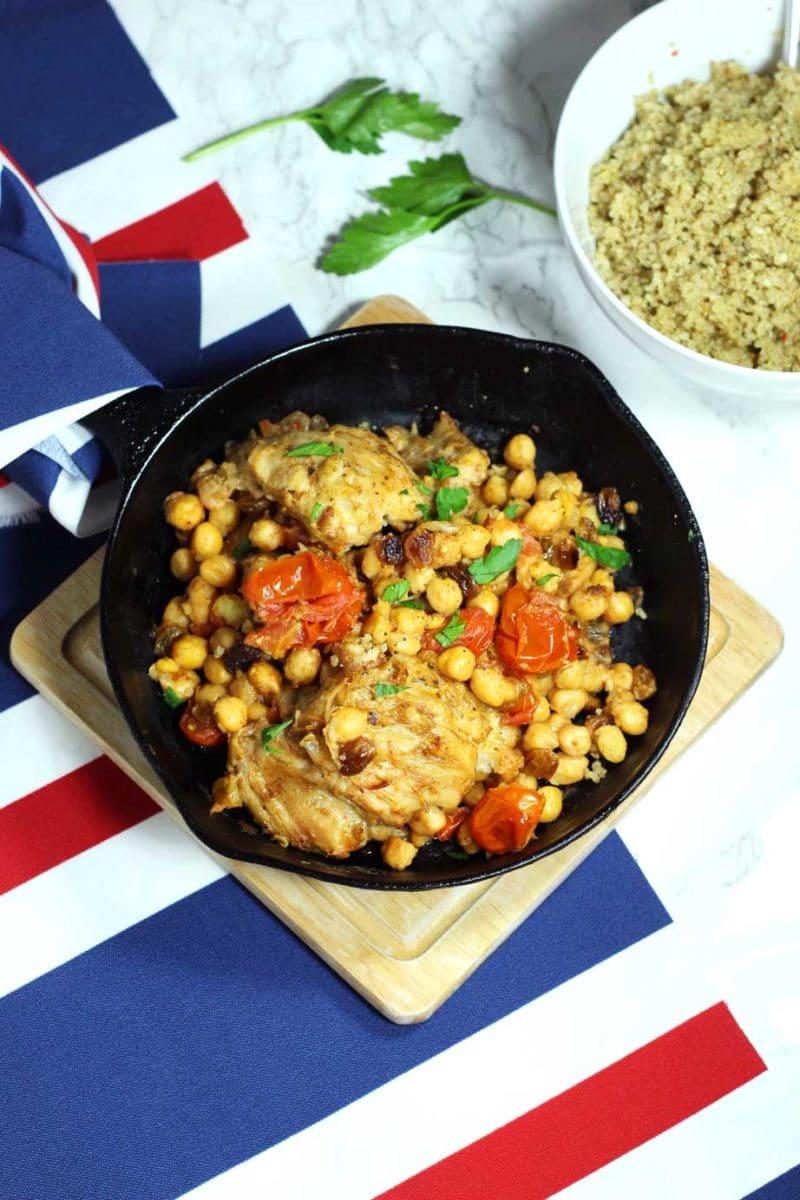 Moroccan Skillet Chicken