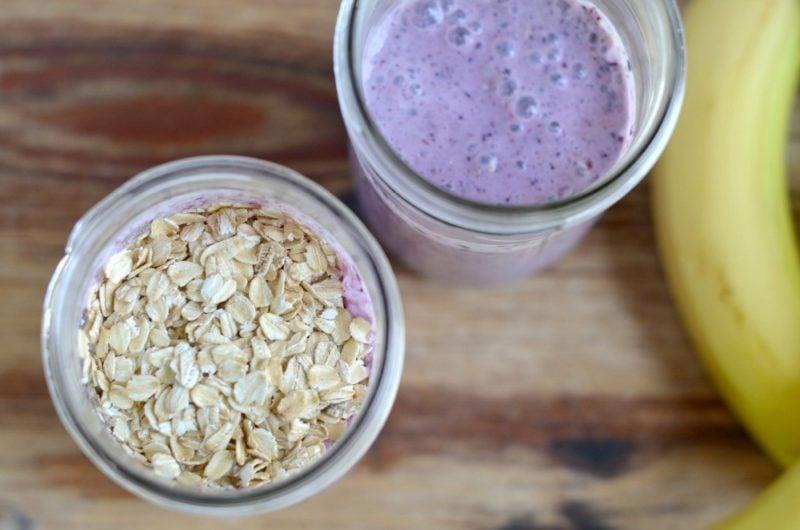 banana blueberry oatmeal