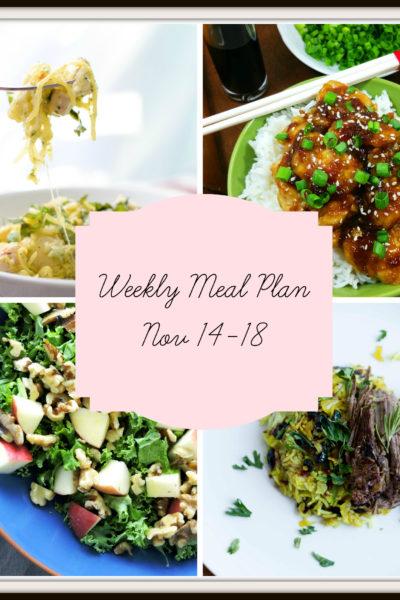 Meal Plan: Week of November 14-18