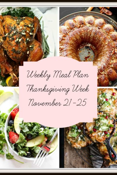 Meal Plan: Thanksgiving Week | Week of November 21-25