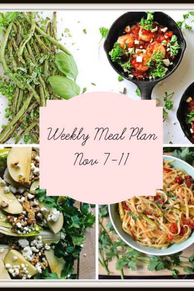 Meal Plan: Week of November 7-11