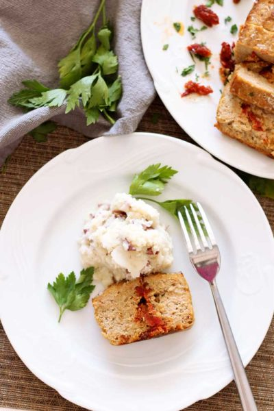 Feta and Sun-Dried Tomato Turkey Meatloaf