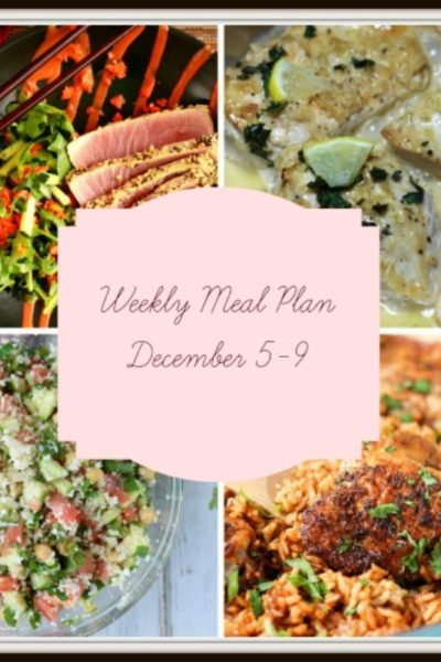 Meal Plan: Week of December 5-9