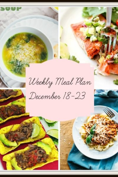 Meal Plan: Week of December 18-23