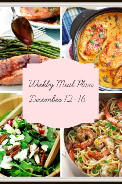 Meal Plan: Week of December 12-16