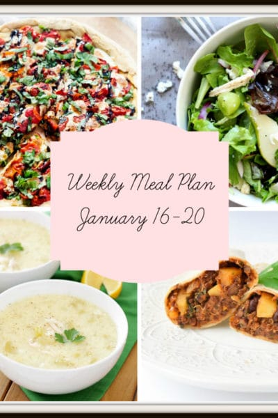 Meal Plan: Week of January 16-20
