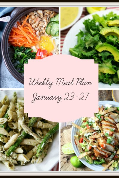 Meal Plan: Week of January 23-27