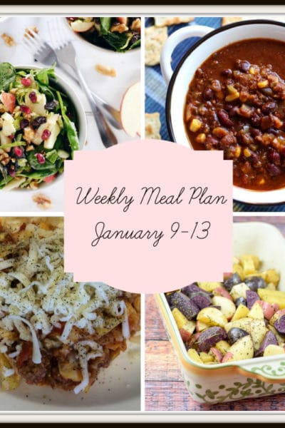 Meal Plan: Week of January 9-13