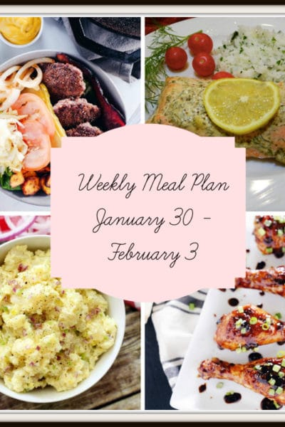 Meal Plan: Week of January 30 – February 3
