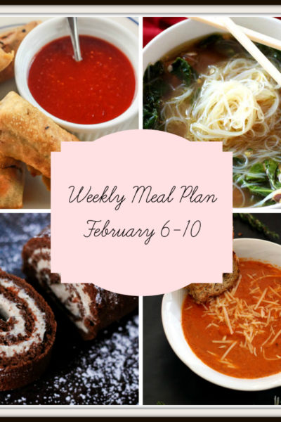 Meal Plan: Week of February 6-10