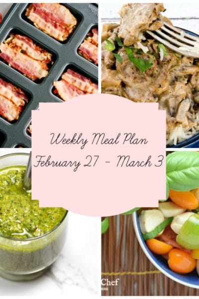 Meal Plan: Week of February 27 – March 3