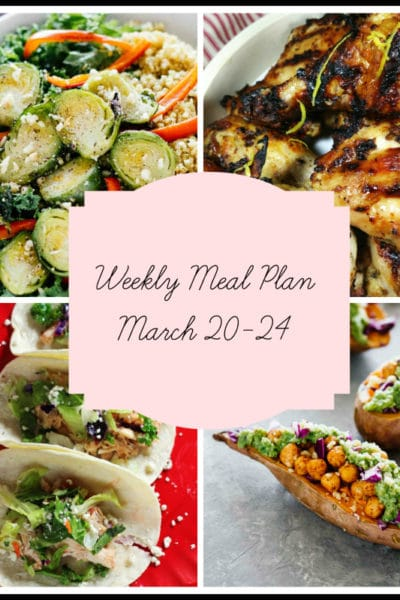 5 New Recipes for Your Family: Meal Plan Week of March 20-24