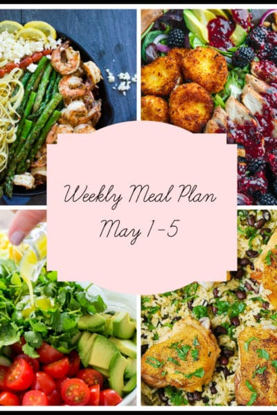 One Pan, A Grill and Five Easy Dinners: Meal Plan Week of May 1-5