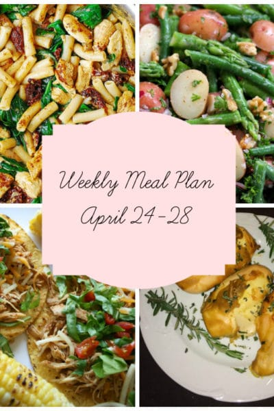 5 Gluten Free Family Favorites: Meal Plan Week of April 24-28
