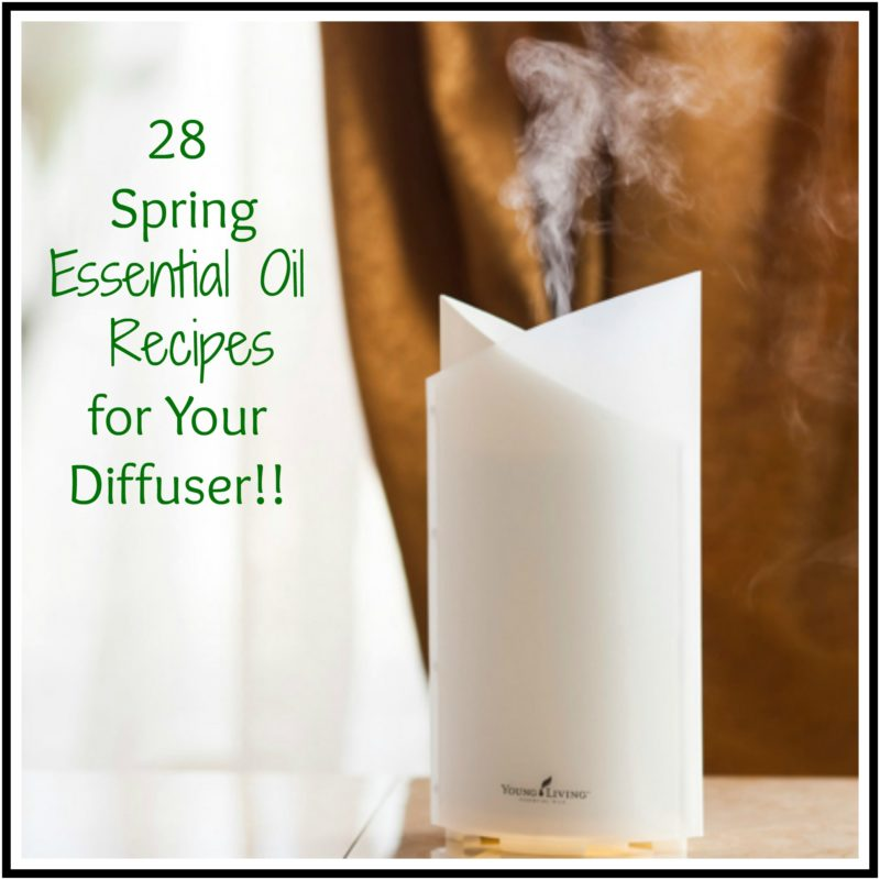 A cold-water diffuser with 28 spring essential oil recipes.