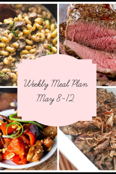 5 Simple Slow Cooker Dinners: Meal Plan Week of May 8-12