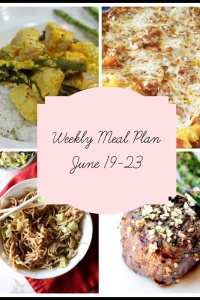 5 Nights of Father's Favorites: Meal Plan Week of June 19-23