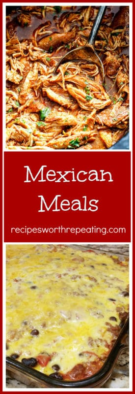 Mexican Salsa Verde and Bean Enchilada featured in a Mexican Meal plan.