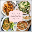 Meatless Meals: Meal Plan Week of July 10-14
