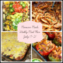 Mexican Meals: Meal Plan Week of July 17-21
