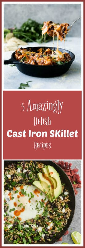 5 amazingly gluten free delish Cast Iron Skillet Recipes featured in a weekly meal plan including Blackened Salmon, Beer Glazed Citrus Chicken and more!
