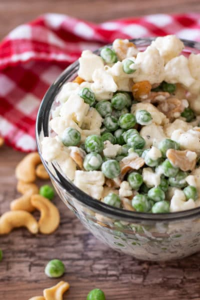Cauliflower and Pea Salad with Cashews