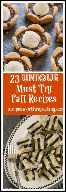 We are well into the fall season and I'm seeing fall recipes everywhere! The classics are great, but I've got 23 of the most UNIQUE fall recipes that you MUST TRY this season!!