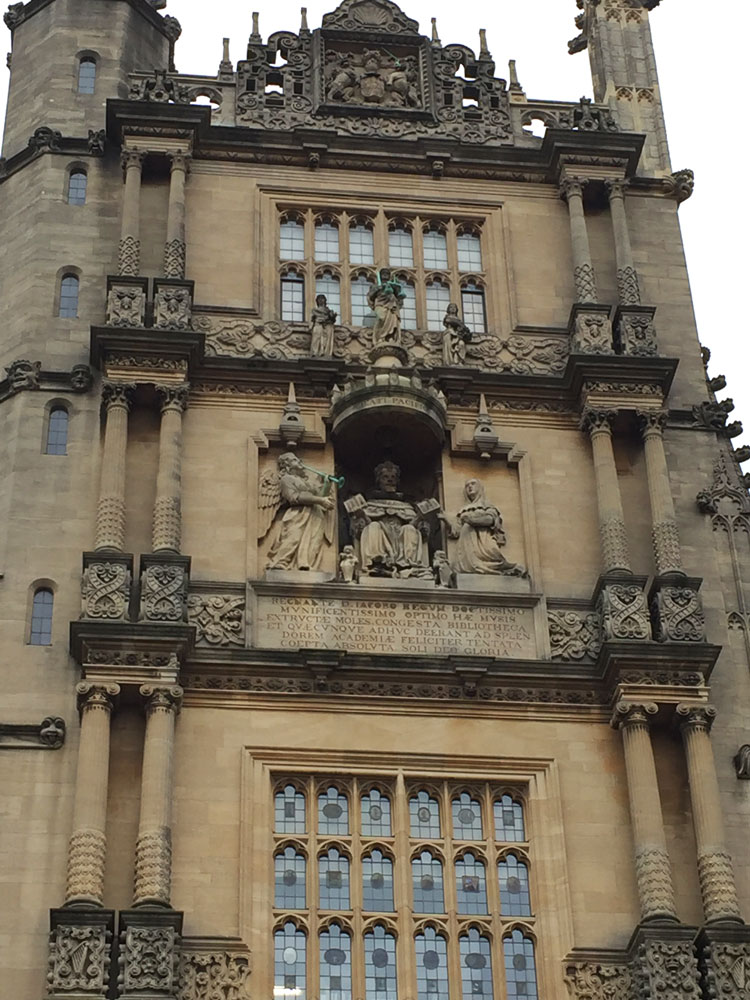 Bodleian Library in Oxford, UK.