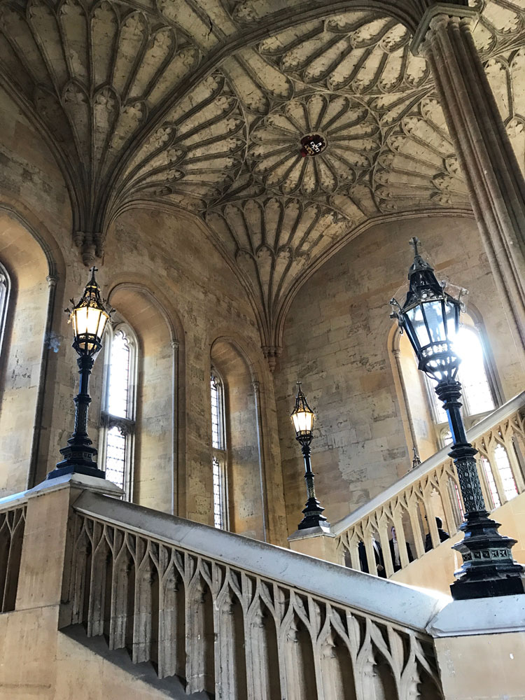 The staircase featured in Harry Potter in Oxford, UK.