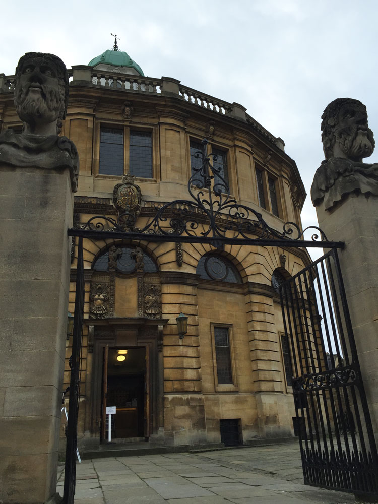 Sheldonian Theatre in Oxford, UK.