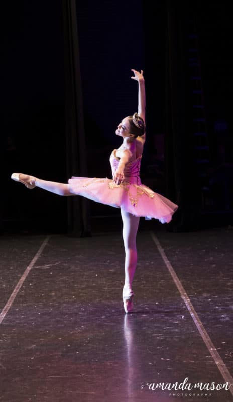 Ballerina doing the dance of the Sugar Plum Fairy.