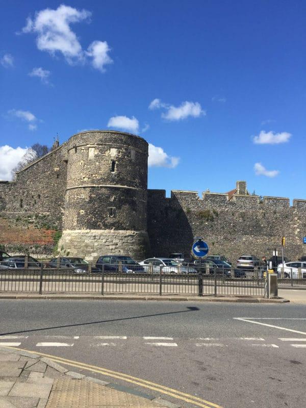 City Walls in Canterbury, UK.
