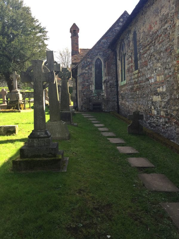 Cemetery at St. Martin's in Canterbury, UK.