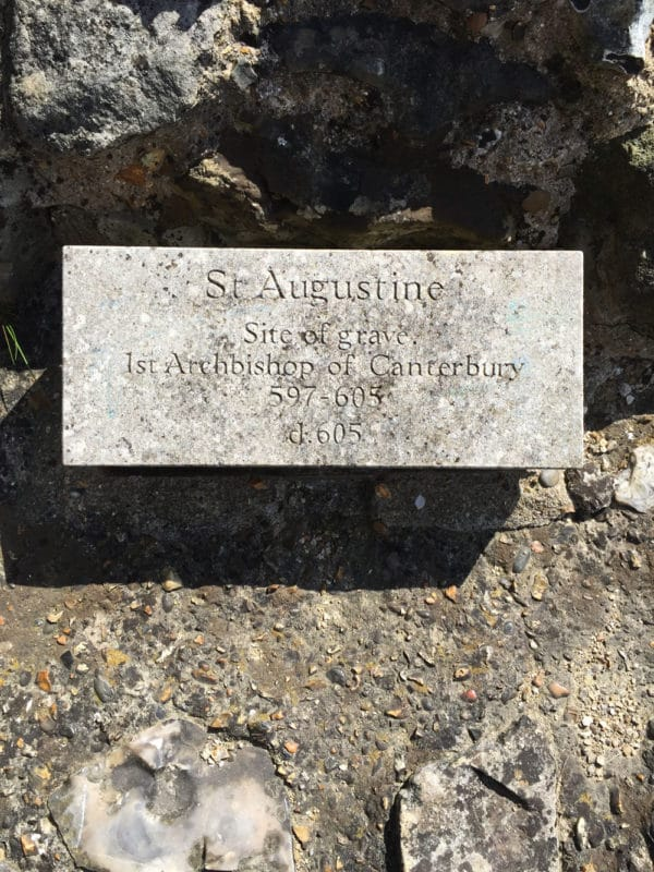 Site of St. Augustine's grave in Canterbury, UK.