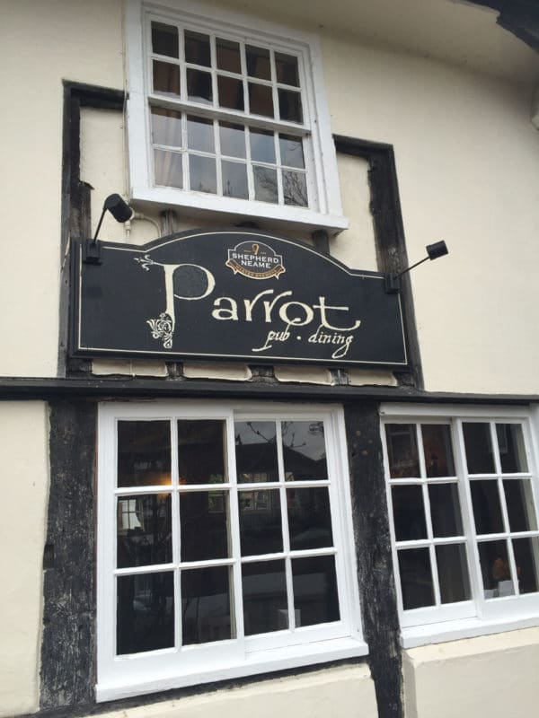 The Parrot Pub in Canterbury UK.