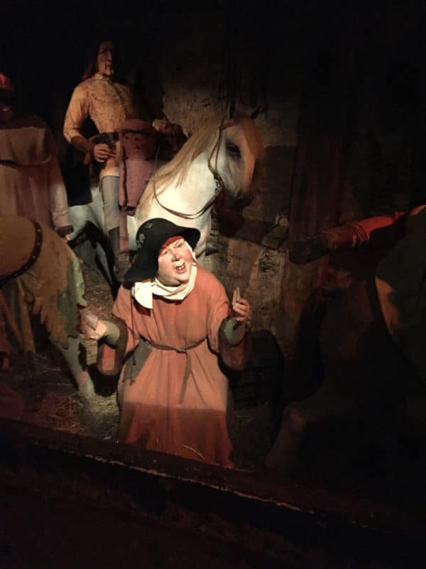 Wax museum of the Canterbury tales.