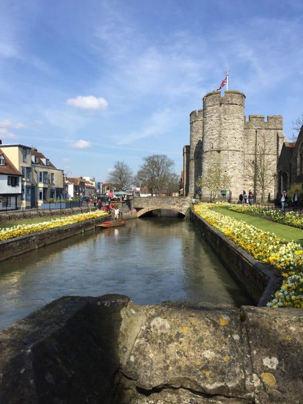 Canal Gardens in Canterbury, UK.