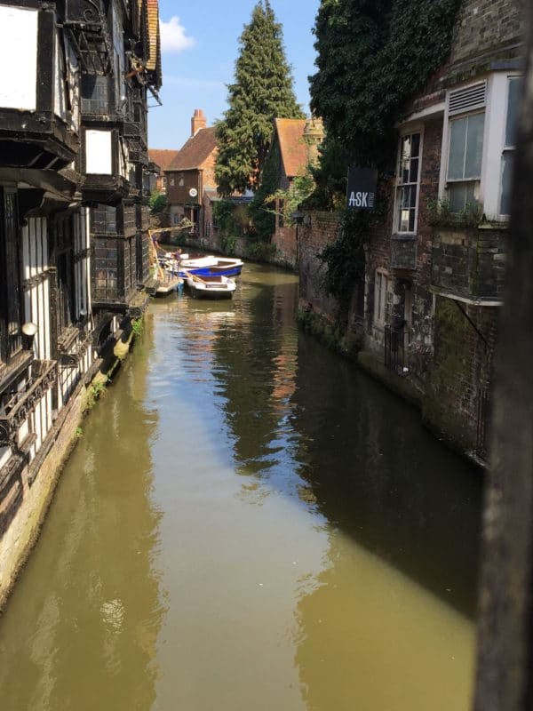 Gondola ride with the Canterbury River Tour in Canterbury UK.