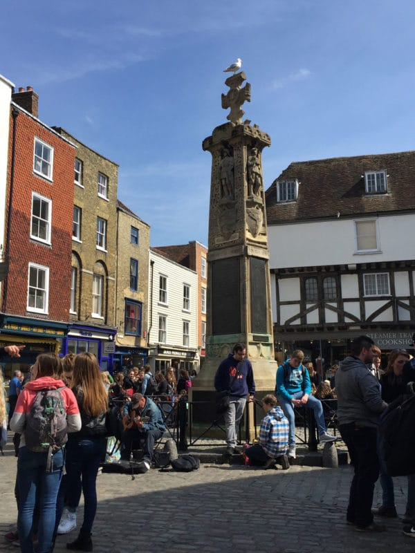 Buttermarket Square in Canterbury, UK.