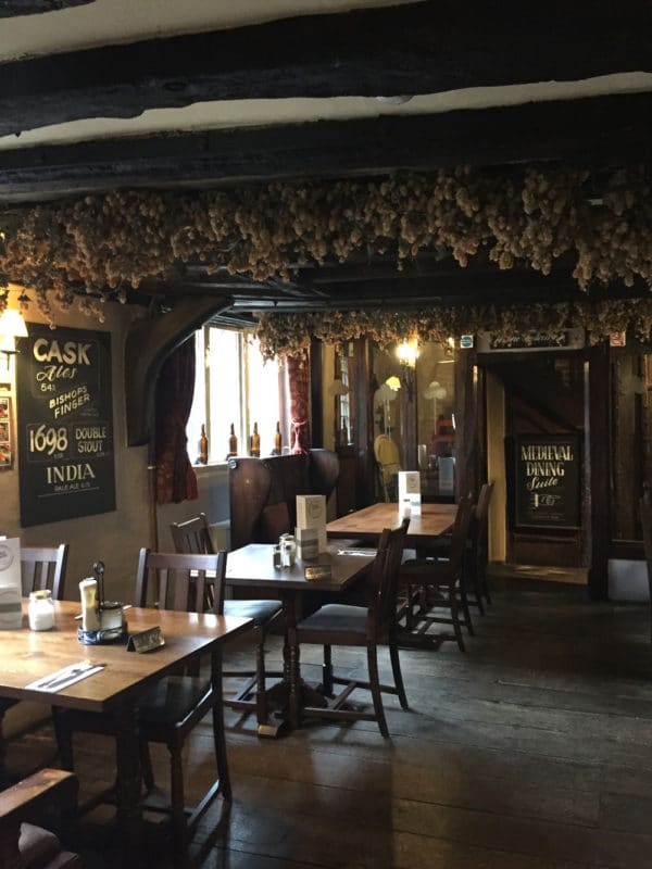 Inside the Parrot Pub in Canterbury UK.
