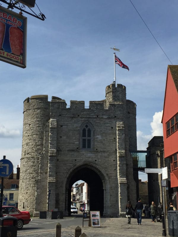 Westgate Towers in Canterbury, UK.