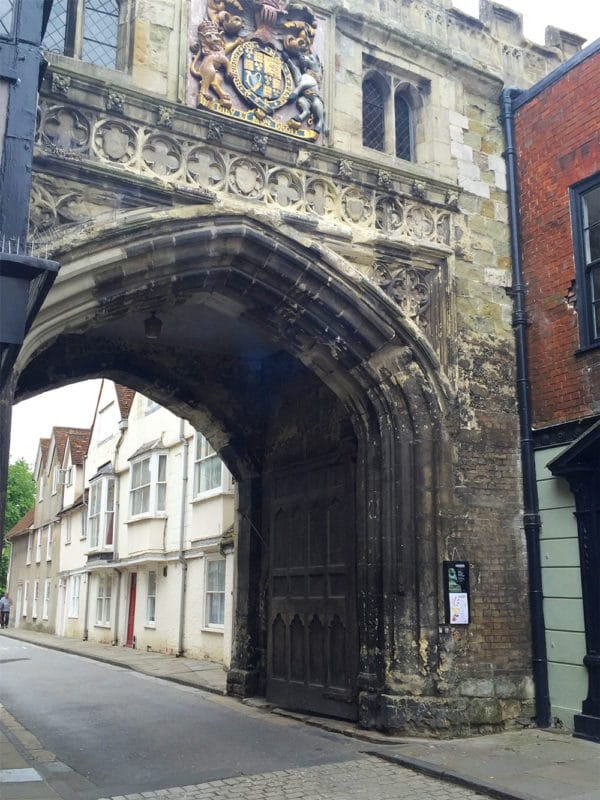 High Street Gate in Salisbury, UK.