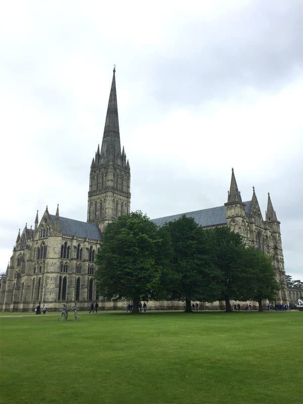 Salisbury Cathedral in Salisbury, UK.