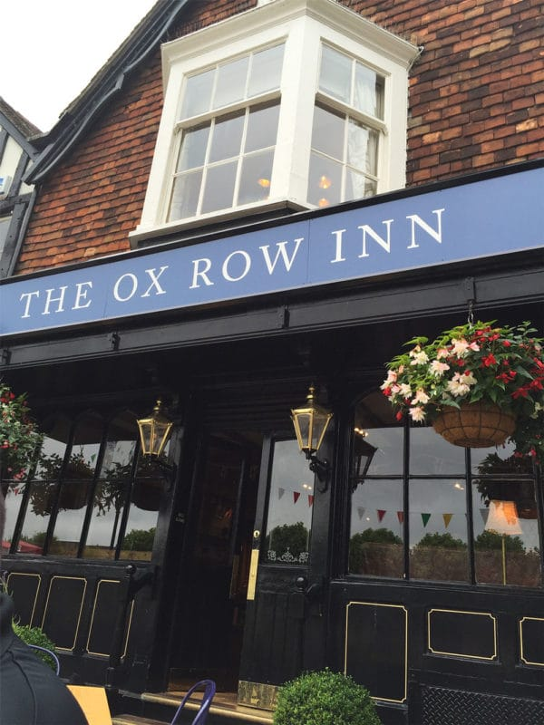 The Ox Row Inn in Salisbury Market in Salisbury, UK.