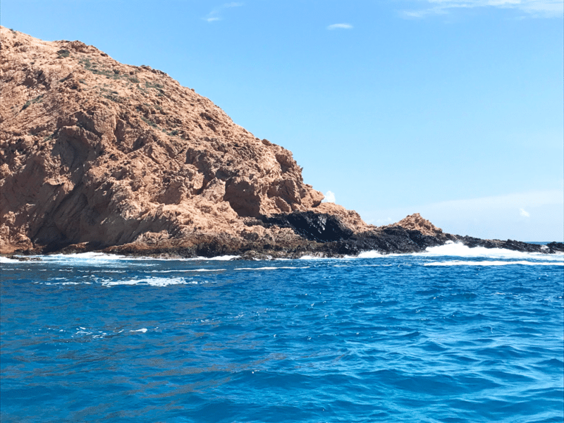 The shore and rocks in Cabo San Lucas in Mexico.